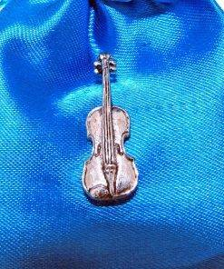 Violin Pin Badge - high quality pewter gifts from Pageant Pewter