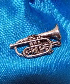 Cornet Pin Badge - high quality pewter gifts from Pageant Pewter