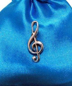 Treble Clef Pin Badge - high quality pewter gifts from Pageant Pewter