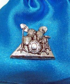 Drumkit Pin Badge - high quality pewter gifts from Pageant Pewter