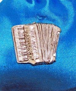 Accordian Pin Badge - high quality pewter gifts from Pageant Pewter