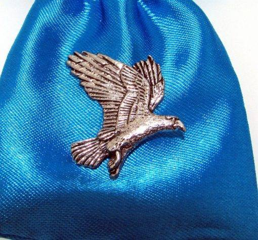 Eagle Pin Badge - high quality pewter gifts from Pageant Pewter