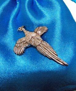 Pheasant Pin Badge - high quality pewter gifts from Pageant Pewter