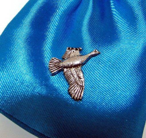 Flying Grouse Pin Badge - high quality pewter gifts from Pageant Pewter
