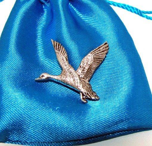 Mallard Pin Badge - high quality pewter gifts from Pageant Pewter
