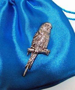 Budgerigar Pin Badge - high quality pewter gifts from Pageant Pewter