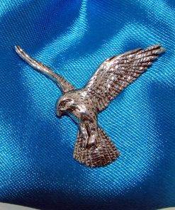 Falcon Pin Badge - high quality pewter gifts from Pageant Pewter