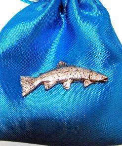 Rainbow Trout Pin Badge - high quality pewter gifts from Pageant Pewter