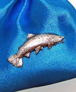 Sea Trout Pin Badge - high quality pewter gifts from Pageant Pewter