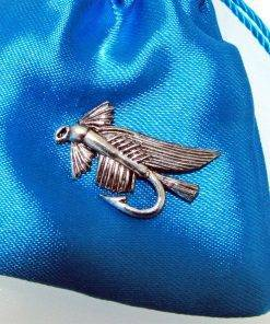 Wet Fly Pin Badge - high quality pewter gifts from Pageant Pewter