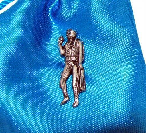 Diver Standing Pin Badge - high quality pewter gifts from Pageant Pewter