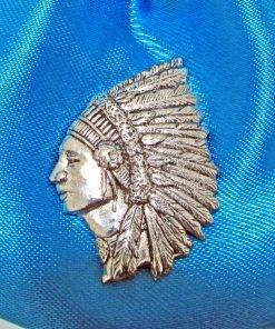 Indian Chief Pin Badge - high quality pewter gifts from Pageant Pewter
