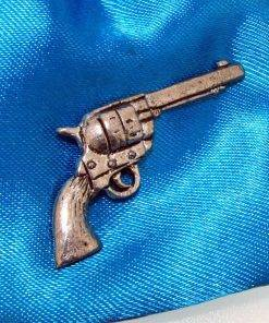 Colt 45 Pistol Pin Badge - high quality pewter gifts from Pageant Pewter
