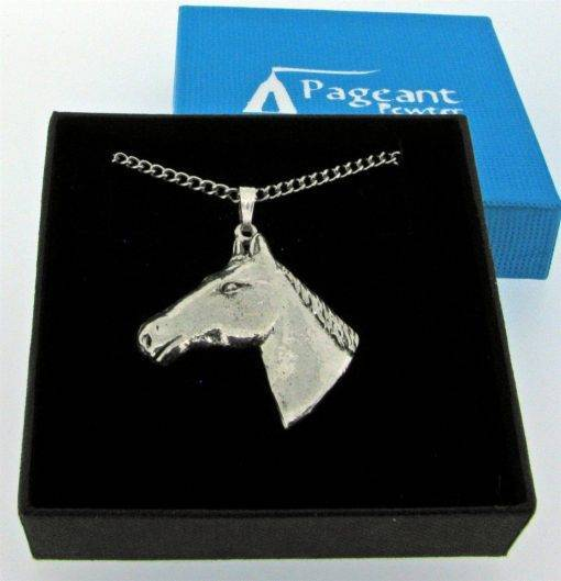 Horse Head Pendant - high quality pewter gifts from Pageant Pewter