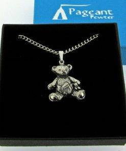 Baby Teddy Pendant - high quality pewter gifts from Pageant Pewter