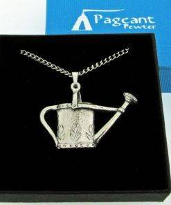 Watering Can Pendant - high quality pewter gifts from Pageant Pewter