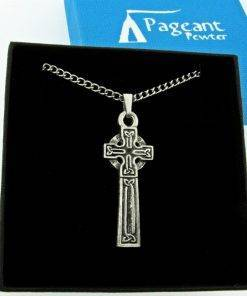 Celtic Cross Pendant - high quality pewter gifts from Pageant Pewter