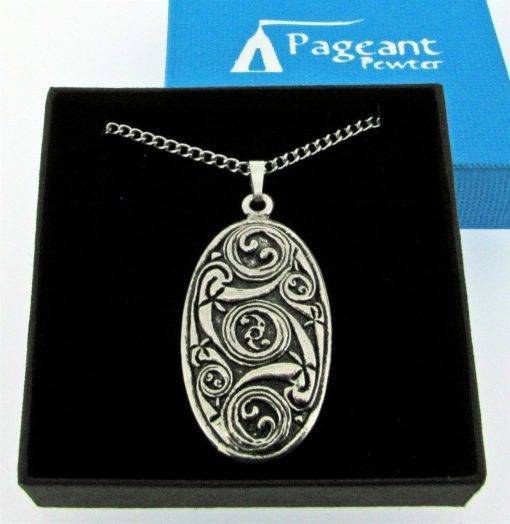 Celtic Shield Pendant - high quality pewter gifts from Pageant Pewter