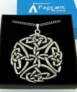 Large Open Celtic Knot Pendant - high quality pewter gifts from Pageant Pewter