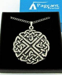 Large Celtic Knot Pendant - high quality pewter gifts from Pageant Pewter