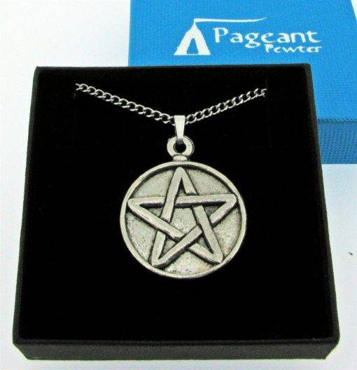 Pentangle Pendant - high quality pewter gifts from Pageant Pewter