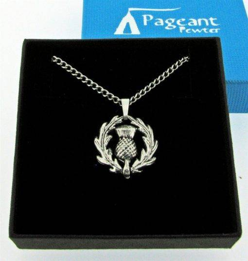 Thistle Pendant - high quality pewter gifts from Pageant Pewter