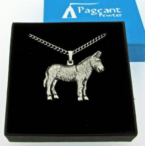 Donkey Pendant - high quality pewter gifts from Pageant Pewter