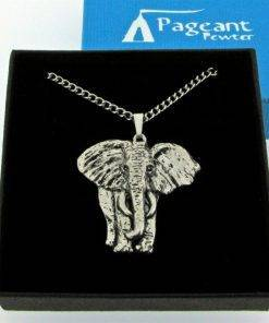 Elephant Pendant - high quality pewter gifts from Pageant Pewter