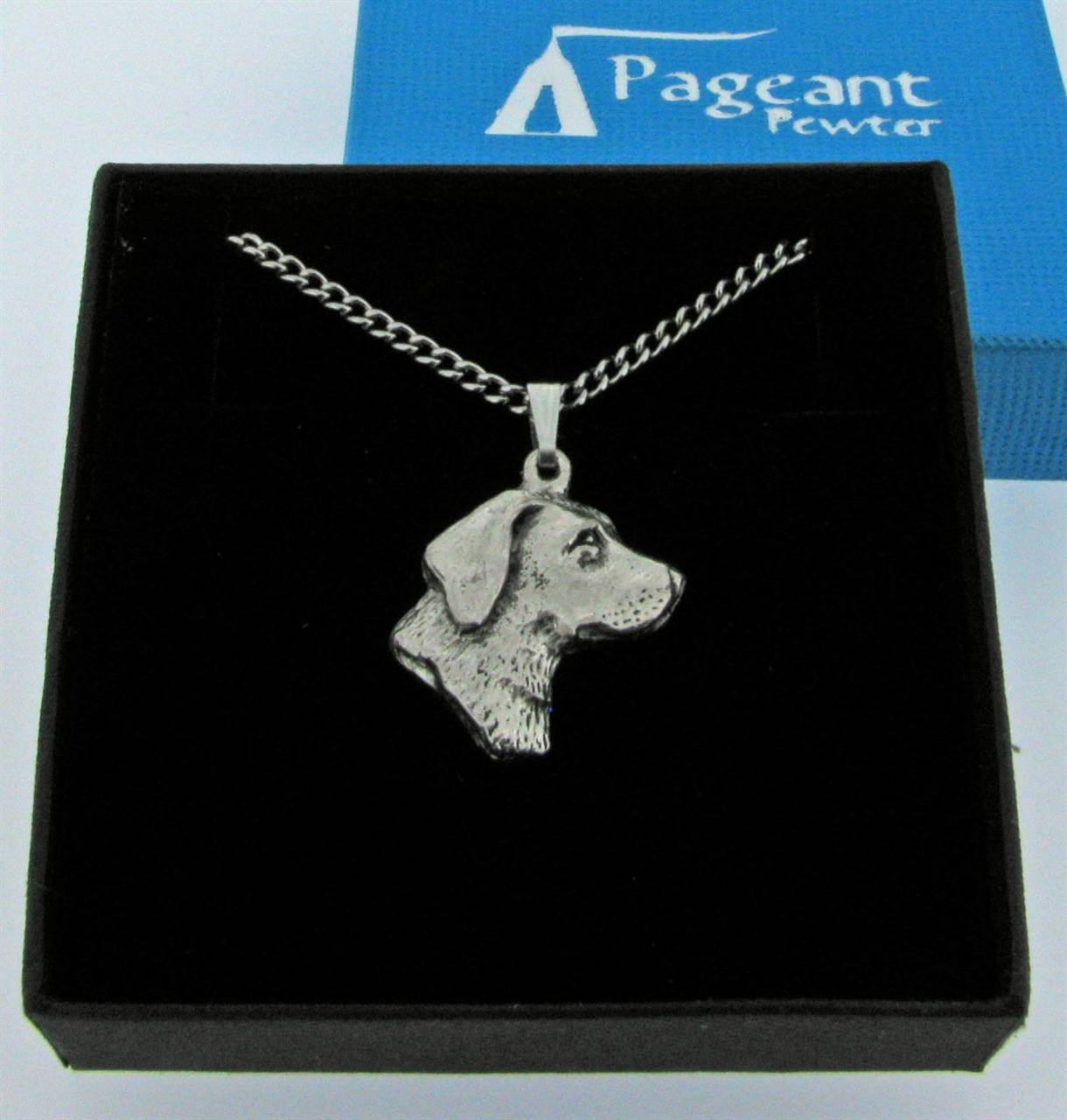 Labrador Head Pendant - high quality pewter gifts from Pageant Pewter