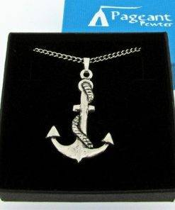 Anchor Pendant - high quality pewter gifts from Pageant Pewter