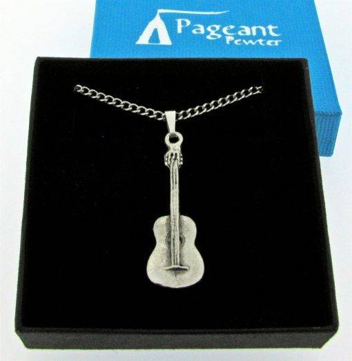 Spanish Guitar  Pendant - high quality pewter gifts from Pageant Pewter