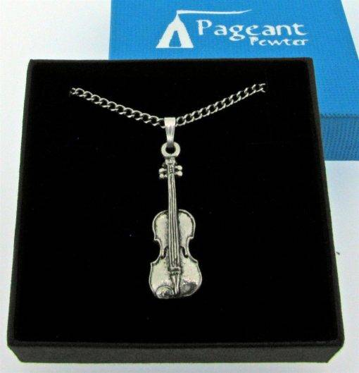 Violin Pendant - high quality pewter gifts from Pageant Pewter