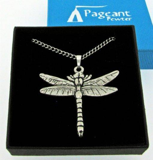 Dragonfly Pendant - high quality pewter gifts from Pageant Pewter