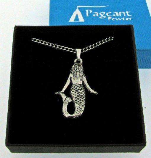 Mermaid Pendant - high quality pewter gifts from Pageant Pewter