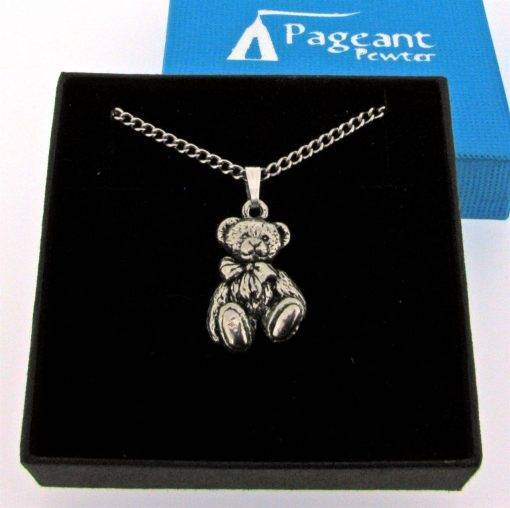 Langdale Teddy Pendant - high quality pewter gifts from Pageant Pewter