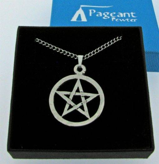 Open Pentangle Pendant - high quality pewter gifts from Pageant Pewter