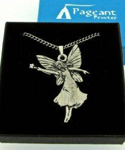 Fairy With wand Pendant - high quality pewter gifts from Pageant Pewter