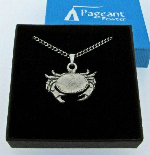 Cancer - Crab Pendant - high quality pewter gifts from Pageant Pewter