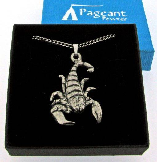 Scorpio - Scorpion Pendant - high quality pewter gifts from Pageant Pewter