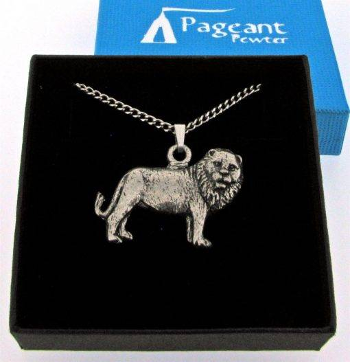 Leo - Lion Pendant - high quality pewter gifts from Pageant Pewter