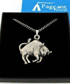 Taurus - Bull Pendant - high quality pewter gifts from Pageant Pewter