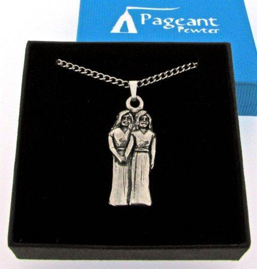 Gemini Pendant - high quality pewter gifts from Pageant Pewter