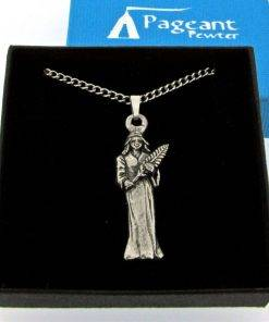 Virgo Pendant - high quality pewter gifts from Pageant Pewter