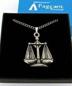 Libra Pendant - high quality pewter gifts from Pageant Pewter