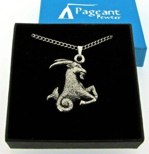 Capricorn Pendant - high quality pewter gifts from Pageant Pewter
