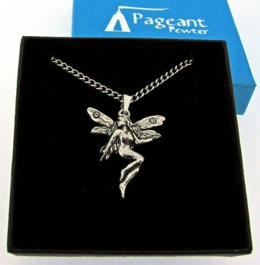 Small Fairy Pendant - high quality pewter gifts from Pageant Pewter