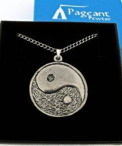 Yin and Yang 1 Pendant - high quality pewter gifts from Pageant Pewter