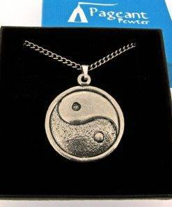 Yin and Yang 2 Pendant - high quality pewter gifts from Pageant Pewter