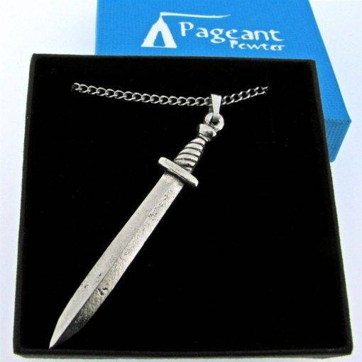 Sword Pendant - high quality pewter gifts from Pageant Pewter