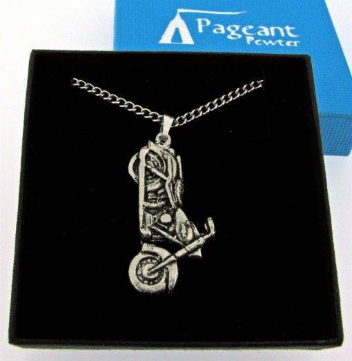 Motorbike Pendant - high quality pewter gifts from Pageant Pewter